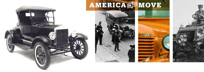 America on the Move.  Images from the Smithsonian.